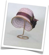 Flapper 1920's lilac cloche doll hat made from CATNCO millinery hat block shapes works with  straw, braid, wool felt or cap net-CATNCO